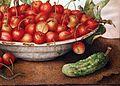 Giovanna garzoni, una ciotola di ciliegie, un cetriolo, una lucertola e tre niccioli, 04.jpg
