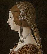 Giovanni Ambrogio de Predis - Blanca Maria Sforza (c. 1493, National Gallery of Art) crop.jpg