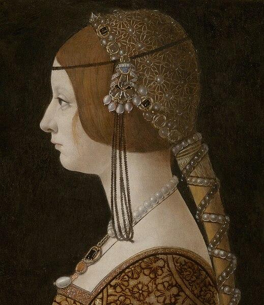 File:Giovanni Ambrogio de Predis - Blanca Maria Sforza (c. 1493, National Gallery of Art) crop.jpg