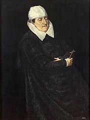 Maria Anna von Bayern (1551-1608), Gemahlin von Karl II. von Innerösterreich, auf dem Totenbett