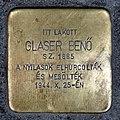 Glaser Benő stolperstein (Budapest-13 Tátra u 20b).jpg