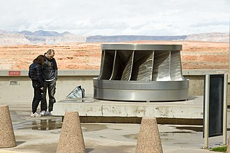 Crystal Dam - A Francis-type turbine removed in 1989 from Crystal Dam Powerplant and currently displayed at Glen Canyon Dam.