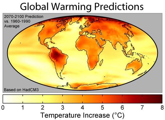 Global Warming Predictions Map