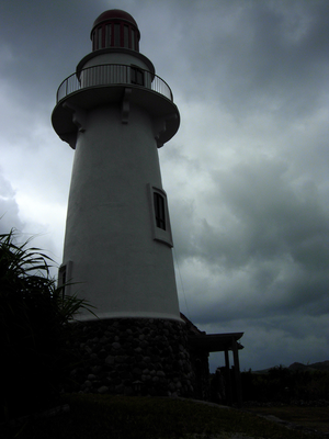 Typhoon over the lighthouse in Batanes
