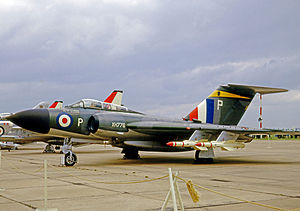 No. 11 Squadron RAF - Gloster Javelin FAW.9 of No. 11 Squadron in 1965.