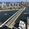 Gold Coast Highway Bridge crossing Nerang River, Southport, Queensland in January 2017.jpg