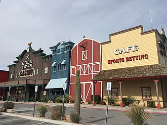 Golden Entertainment - Gold Town Casino in Pahrump, Nevada, the former Terrible's Town Casino, which Golden Gaming acquired in 2012.