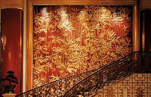 China World Hotel, Beijing - Golden Bamboo mural at China New World Hotel, Beijing