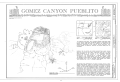 Gomez Canyon Pueblito, Gomez Canyon, Dulce, Rio Arriba County, NM HABS NM,20-DUL.V,4- (sheet 1 of 3).png