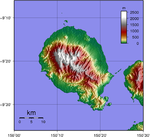 Goodenough Island - Image: Goodenough Island Topography