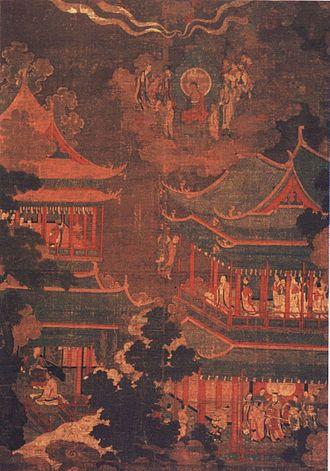 Goryeo - A Goryeo painting depicting the Imperial Palace of Goryeo.
