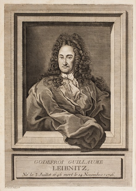 Engraving of Gottfried Wilhelm Leibniz