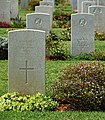 Gravestones on the Souda Bay War Cemetery, Crete, Greece.jpg