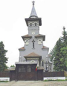 Biserica greco-catolică din Bocșa, unde se află mausoleul lui Simion Bărnuțiu