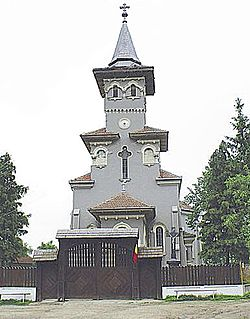 Greek Catolic Church in Bocşa, where the mausoleum of Simion Bărnuţiu is located.