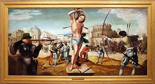 Gregório lopes, martirio di san sebastiano, 1536-39, 01