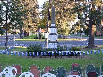Greta, New South Wales - Image: Greta Cenotaph