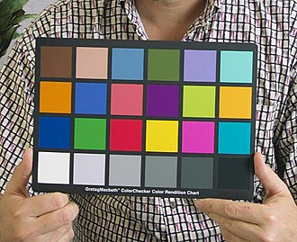 ColorChecker - ColorChecker held in a photographic portrait setting