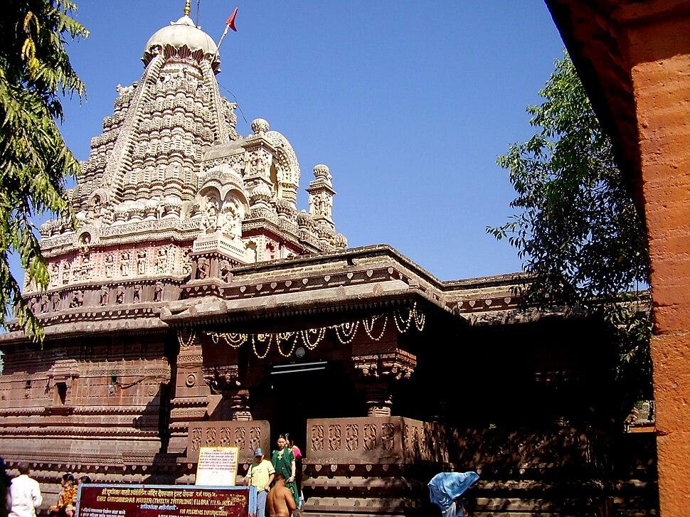 Grishneshwar temple in Aurangabad district