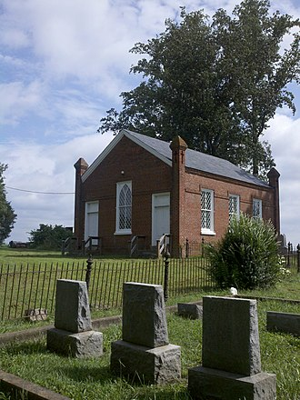 National Register of Historic Places listings in Amelia County, Virginia - Image: Grub Hill Church