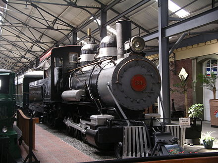 Old steam engine in the Guatemala City Railway Museum Guatemala City Railway Museum 3.JPG