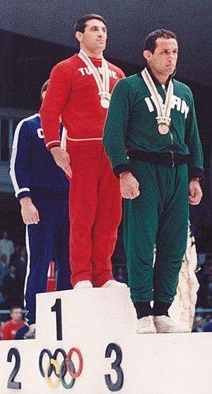 İsmail Ogan - Ogan (center) at the 1964 Olympics
