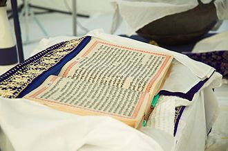 "Guru Maneyo Granth - With his words"" Guru Maneyo Granth, Guru Gobind Singh installed the Adi Granth as the Guru Granth Sahib as the eternal Sikh Guru"