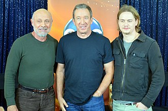 Federal Correctional Institution, Sandstone - Tim Allen, center, with fellow actors Hector Elizondo and Christoph Sanders on the set of the ABC television series Last Man Standing in 2012.