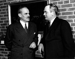 Metallurgical Laboratory - Arthur H. Compton (left) the head of the Metallurgical Project, with Martin D. Whitaker, the director of Clinton Laboratories