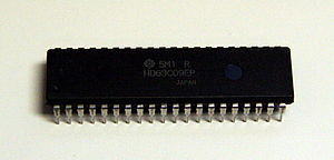 Hitachi 6309 - Hitachi 63C09E, a 3MHz external clock version of the 6309
