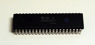 Hitachi 6309 - Hitachi 63C09E, a 3MHz external clock version of the 6309