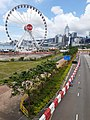 HK 中環 Central 民光街 Man Yiu Street 行人天橋 footbridge view Central Waterfront Promenade 中環海濱摩天輪 big eye n 灣仔 Wan Chai June 2020 SS2 02.jpg