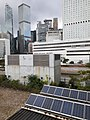 HK Central 中環 耀民街 Yiu Man Street footbridge n Solar panel system view GPO Cheung Kong Center Bank of China Tower May 2020 SS2 02.jpg