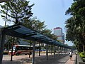 HK Sheung Wan Central Piers Man Kwong Street covered walkway Shun Tak Centre Oct-2012.JPG