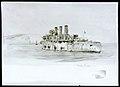 HMS 'Vindictive' returning from the Zeebrugge Raid, 24 April 1918 RMG PW1862.jpg