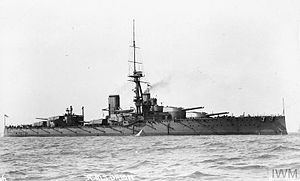 HMS Orion (1910) - Orion at anchor before 1915