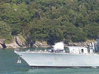 4.5 inch Mark 8 naval gun - Image: HMS Sutherland (F81) deck gun