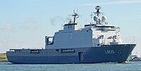 HNLMS Rotterdam at Nieuwe Waterweg, Starboard Bow, 05.09.2016.jpg
