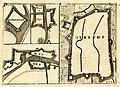 HUA-212034-Verzamelblad met de schetsmatige plattegronden van Het fort Hinderdam De vesting Nieuwersluis De vesting Muiden De stad Utrecht met weergave van de ve.jpg