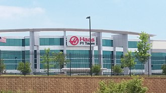 Haas F1 Team - The team's American headquarters in Kannapolis, North Carolina