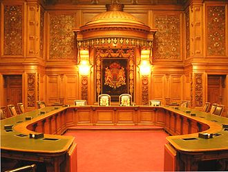Government of Hamburg - Room of the Senat