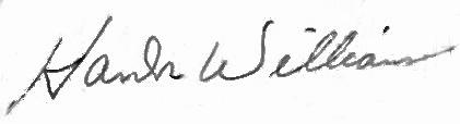 Hank Williams signature