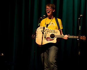 W00tstock - Hank Green performing at The Aladdin Theater in Portland.