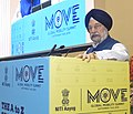 """Hardeep Singh Puri delivering the keynote address on the 2nd Session """"Mobility in Cities - Practitioners' Perspective"""", during the Global Mobility Summit, organised by NITI Aayog, in New Delhi.JPG"""