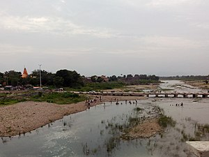 Sabarmati River - View of the Harnav, a tributary of the Sabarmati