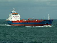 Havelstern 06Aug05 NW above approaching Port of Rotterdam, Holland 06-Aug-2005.jpg