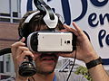 Head-mounted display, samsung, Madrid Games Week, España, 2015.JPG