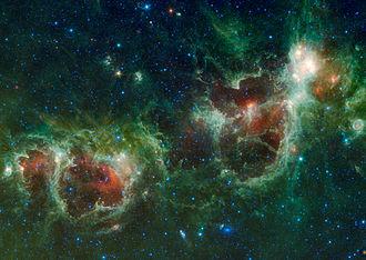 Maffei 2 - Maffei 2 is the spiral galaxy near the bottom of this image.