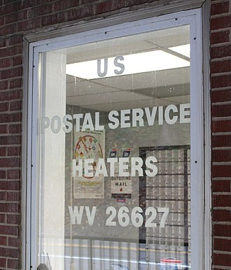 Heaters, West Virginia - US Post Office for Heaters, WV.