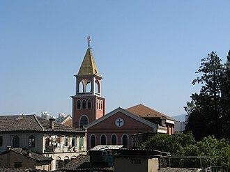 Church of Heavenly Peace, Fuzhou - Image: Heavenly peace church from cangshan